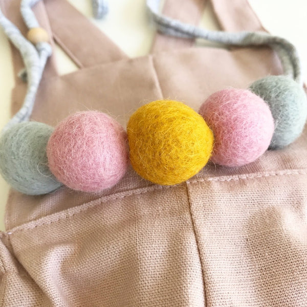 Felt Ball Necklace - Custom Order  Winston + Grace