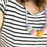 Felt Ball Necklace - The Mini's Mustard  Winston + Grace
