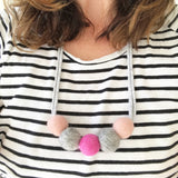 Felt Ball Necklace - The Pink Marble  Winston + Grace