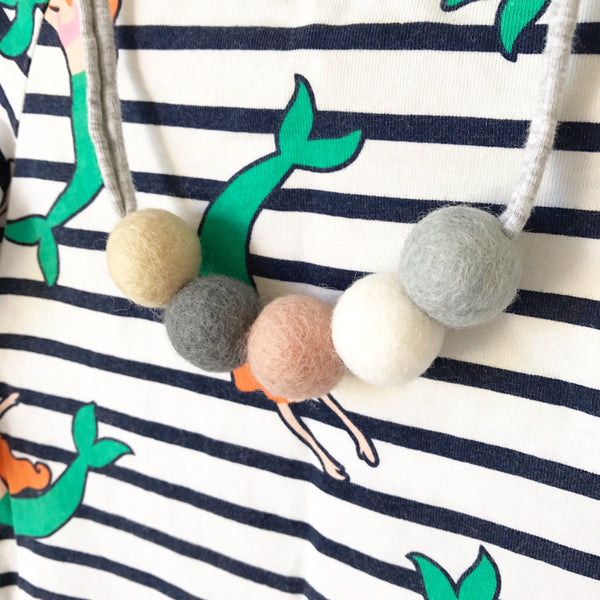 Felt Ball Necklace - The Made You Brooke  Winston + Grace
