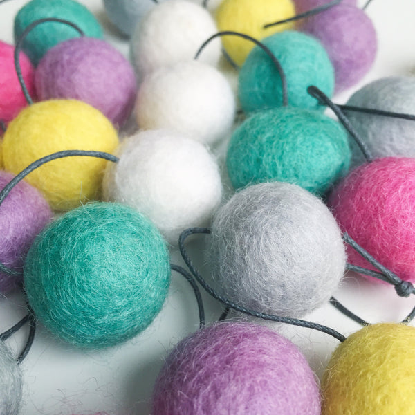 Felt Ball Garland - Popping Candy - Winston + Grace