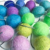 Felt Ball Garland - Rainbow Storm Accessories Winston + Grace