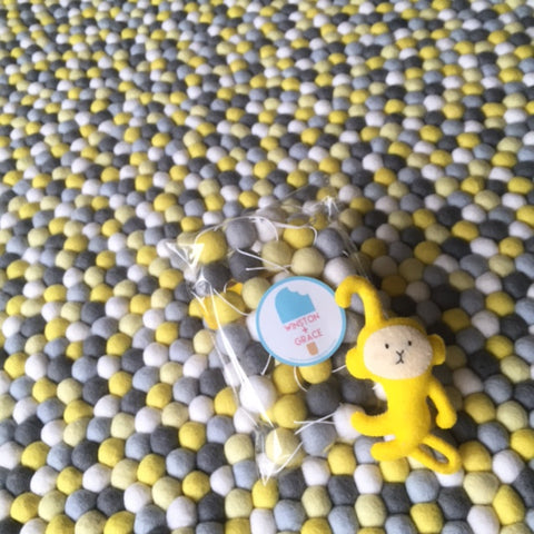 Felt Ball Rug - Yellow Brick Road  Winston + Grace
