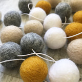 Felt Ball Garland - Mustard Marble Accessories Winston + Grace