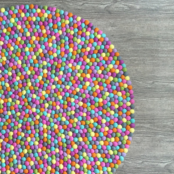 Felt Ball Rug - Fruit Loop  Winston + Grace