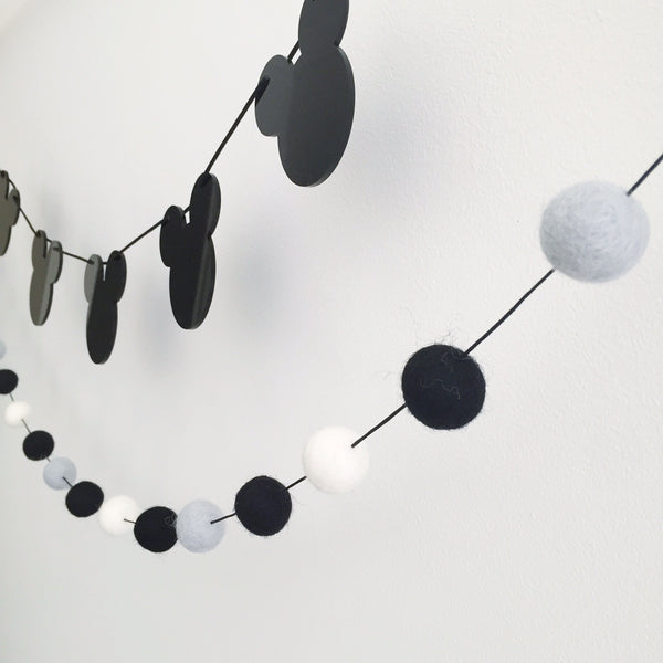 Felt Ball Garland - MonoCool Accessories Winston + Grace
