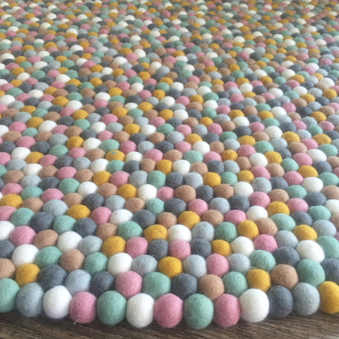 Felt Ball Rug - Candied Almonds - Winston + Grace