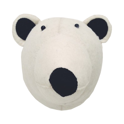 Fiona Walker Felt Animal Head - The Polar Bear