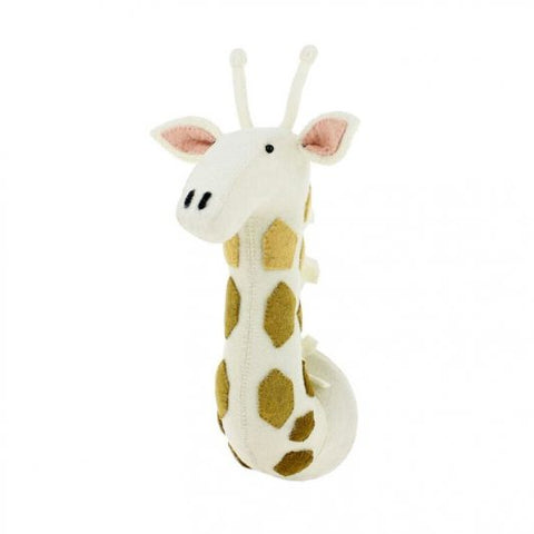 Fiona Walker Felt Animal Head - The Giraffe with tonal spots  (Medium)