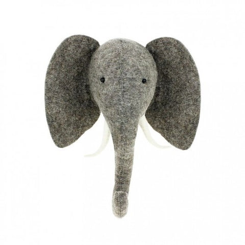 Fiona Walker Felt Animal Head - The Elephant  (Medium - Trunk Up)  Winston + Grace