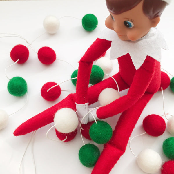 Felt Ball Garland - Oh For Christmas Sake Accessories Winston + Grace