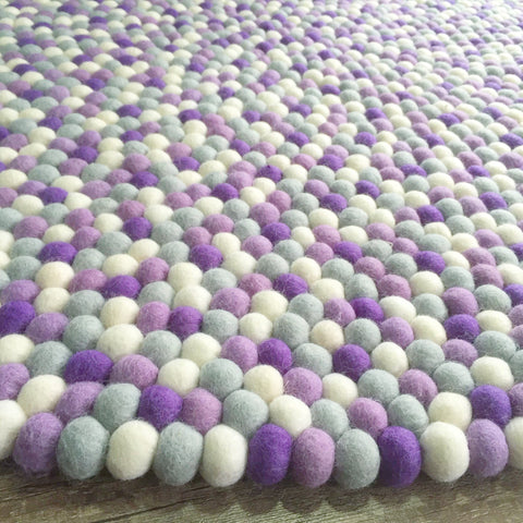 Felt Ball Rug - Purple Rain  Winston + Grace