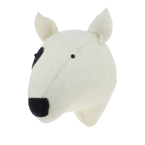 Fiona Walker Felt Animal Head - The Bull Terrier Dog  Winston + Grace