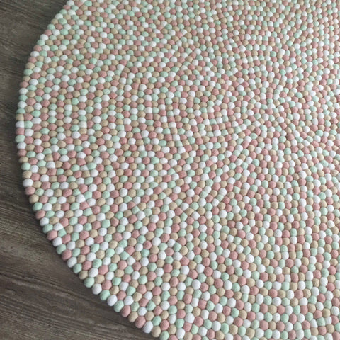 Felt Ball Rug - Mother of Pearl  Winston + Grace