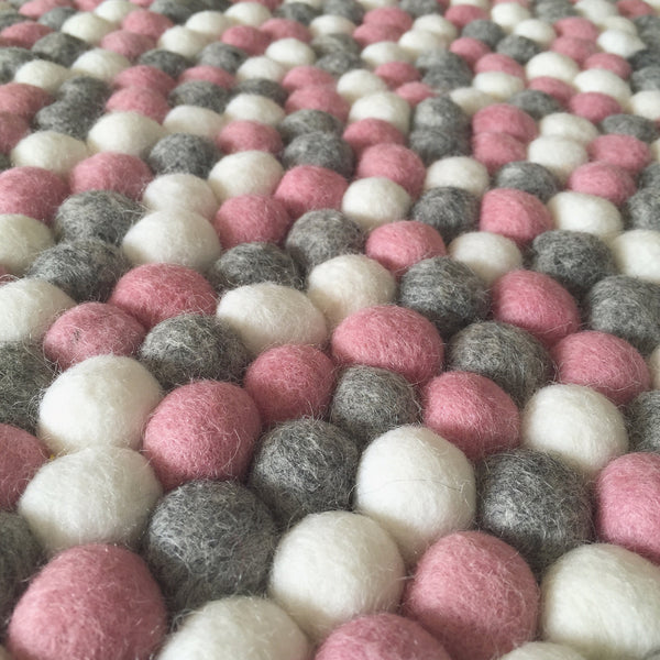 Felt Ball Rug - Marble Blush  Winston + Grace