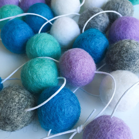 Felt Ball Garland - Sea Foam Accessories Winston + Grace