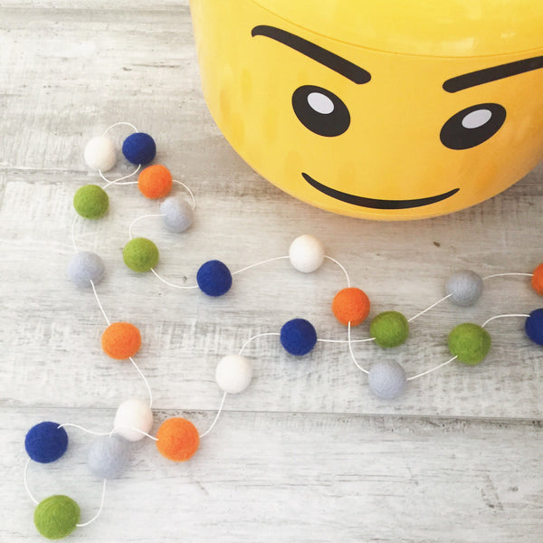 Felt Ball Garland - Hungry Caterpillar Accessories Winston + Grace