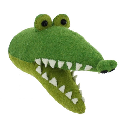 Fiona Walker Felt Animal Head- The Crocodile - Mini