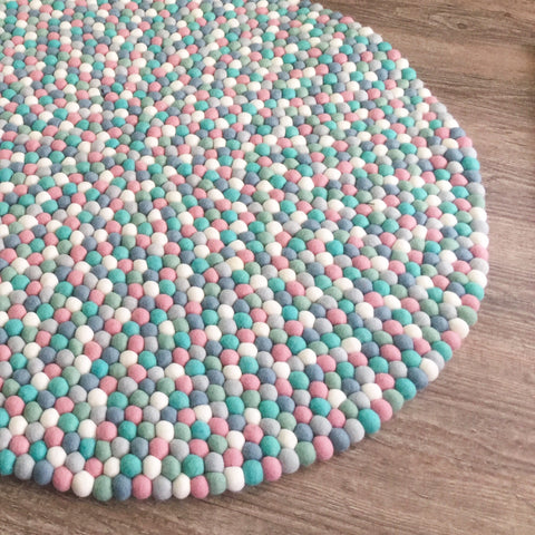 Felt Ball Rug - Mint and Musk - Winston + Grace