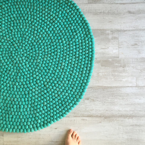 Felt Ball Rug - Mermaid's Tail - Winston + Grace