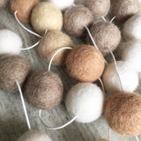 Felt Ball Garland - Coffee Dates Accessories Winston + Grace
