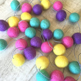 Felt Ball Garland - Bubble Gum Accessories Winston + Grace