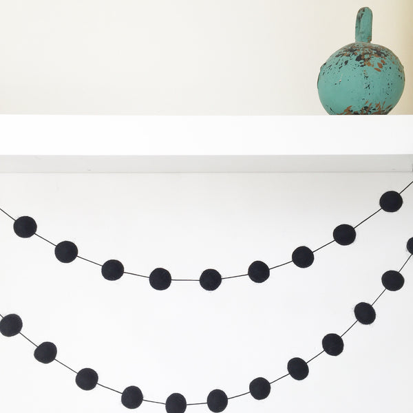Felt Ball Garland - Back in Black Accessories Winston + Grace