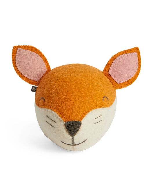 Fiona Walker Felt Animal Head - The Sleepy Fox  (Mini)