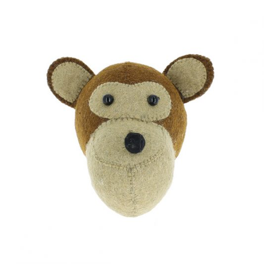 Fiona Walker Felt Animal Head - The Monkey (Mini)