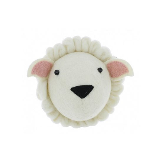Fiona Walker Felt Animal Head - The Sheep  (Mini)  Winston + Grace