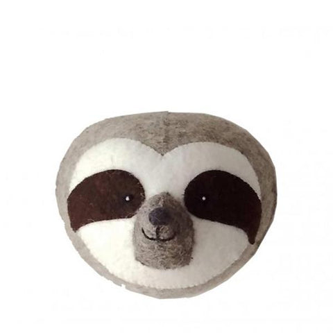 Fiona Walker Felt Animal Head- The Sloth - Mini