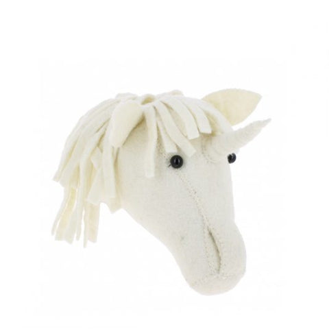 Fiona Walker Felt Animal Head - The Unicorn (Mini)