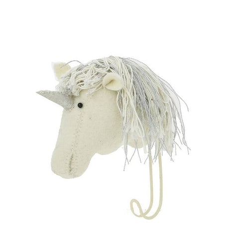 Fiona Walker Felt Animal Hook - The Unicorn  Winston + Grace
