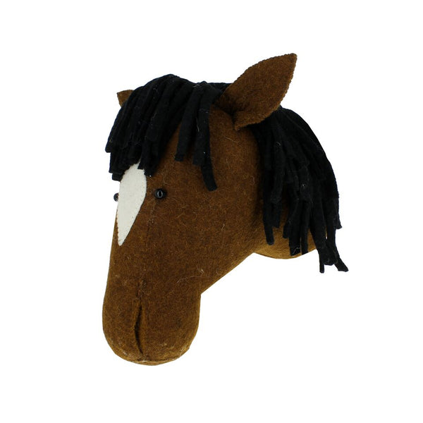 Fiona Walker Felt Animal Head - The Horse  Winston + Grace