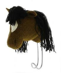 Fiona Walker Felt Animal Hook - The Brown Horse  Winston + Grace
