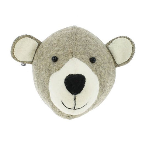 Fiona Walker Felt Animal Head - The Mummy Bear (Semi Medium)
