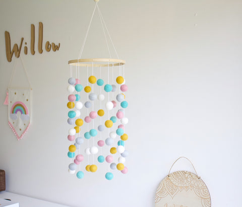 Felt Ball Mobile - Mermaids and Mustard  Winston + Grace