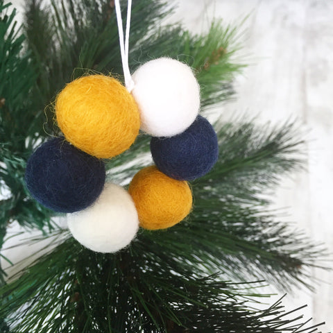 Mini Felt Ball Wreath - Santa's Snack Accessories Winston + Grace