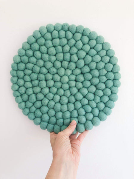 Felt Ball Mini Mat (trivet) - Mint  Winston + Grace