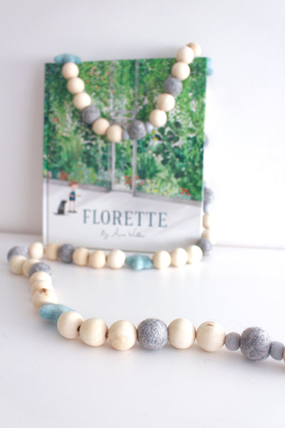 Felt and Wooden Ball Garland - Marble and Mint Accessories Winston + Grace