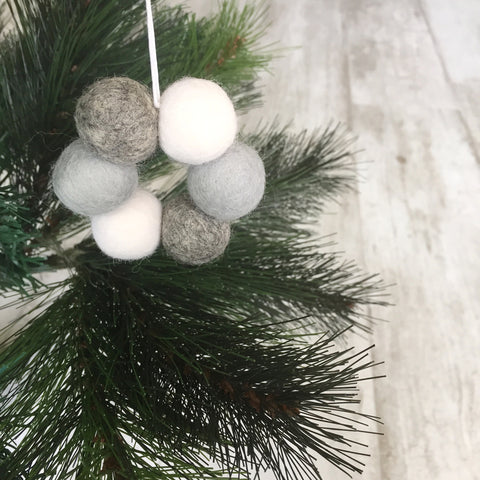 Mini Felt Ball Wreath - Scandi Chrstmas Accessories Winston + Grace