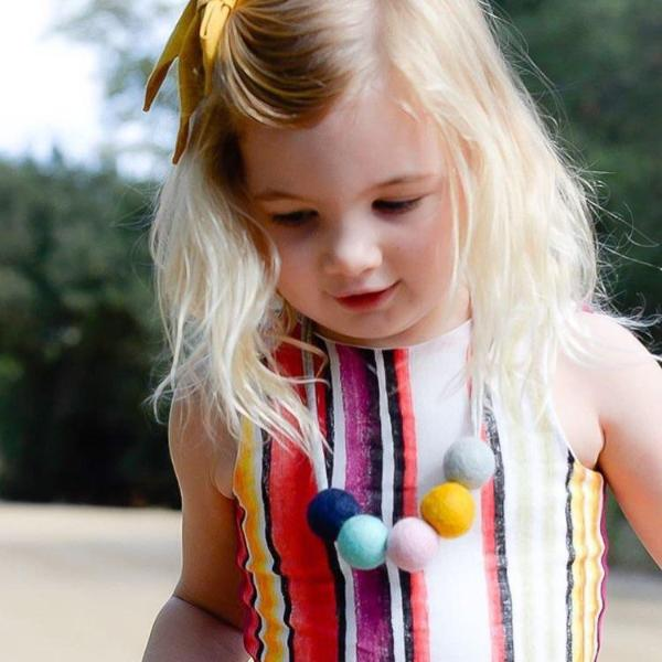 Felt Ball Necklace - The Everly  Winston + Grace