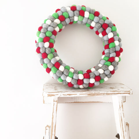 Felt Ball Wreath - New Traditions  Winston + Grace