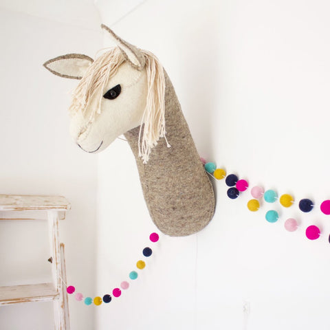 Fiona Walker Felt Animal Head - The Llama  Winston + Grace