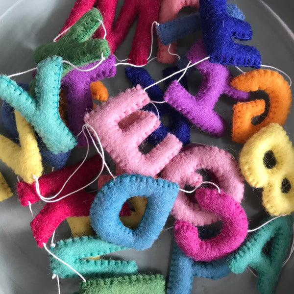 Felt Alphabet Garland - Bright Spark Accessories Winston + Grace