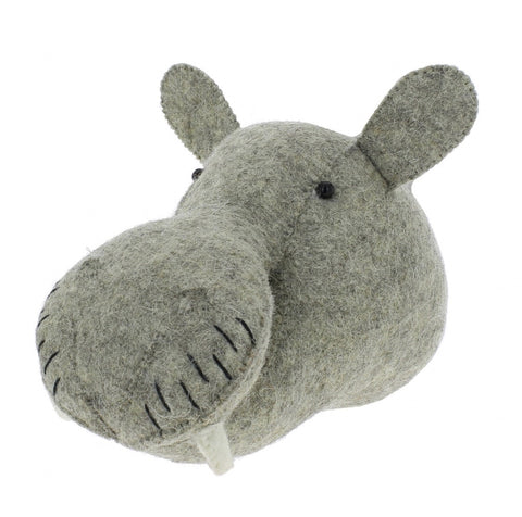 Fiona Walker Felt Animal Head - The Mini Hippo  Winston + Grace