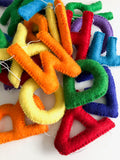 Felt Alphabet Garland - Rainbow Brite Accessories Winston + Grace