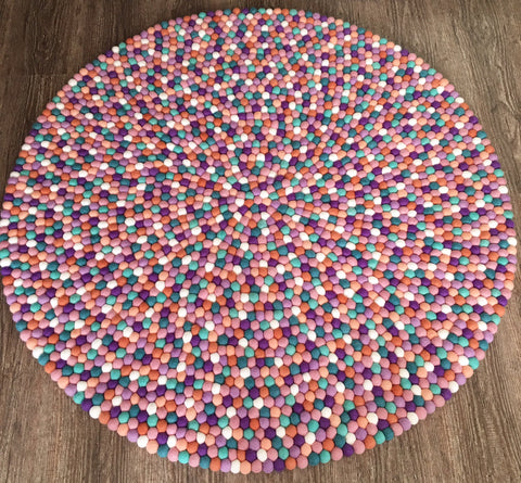 Felt Ball Rug - Coral Sea  Winston + Grace
