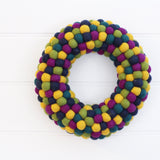 Felt Ball Wreath - Rich Christmas  Winston + Grace