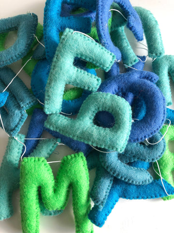 Felt Alphabet Garland - Sea Glass Accessories Winston + Grace